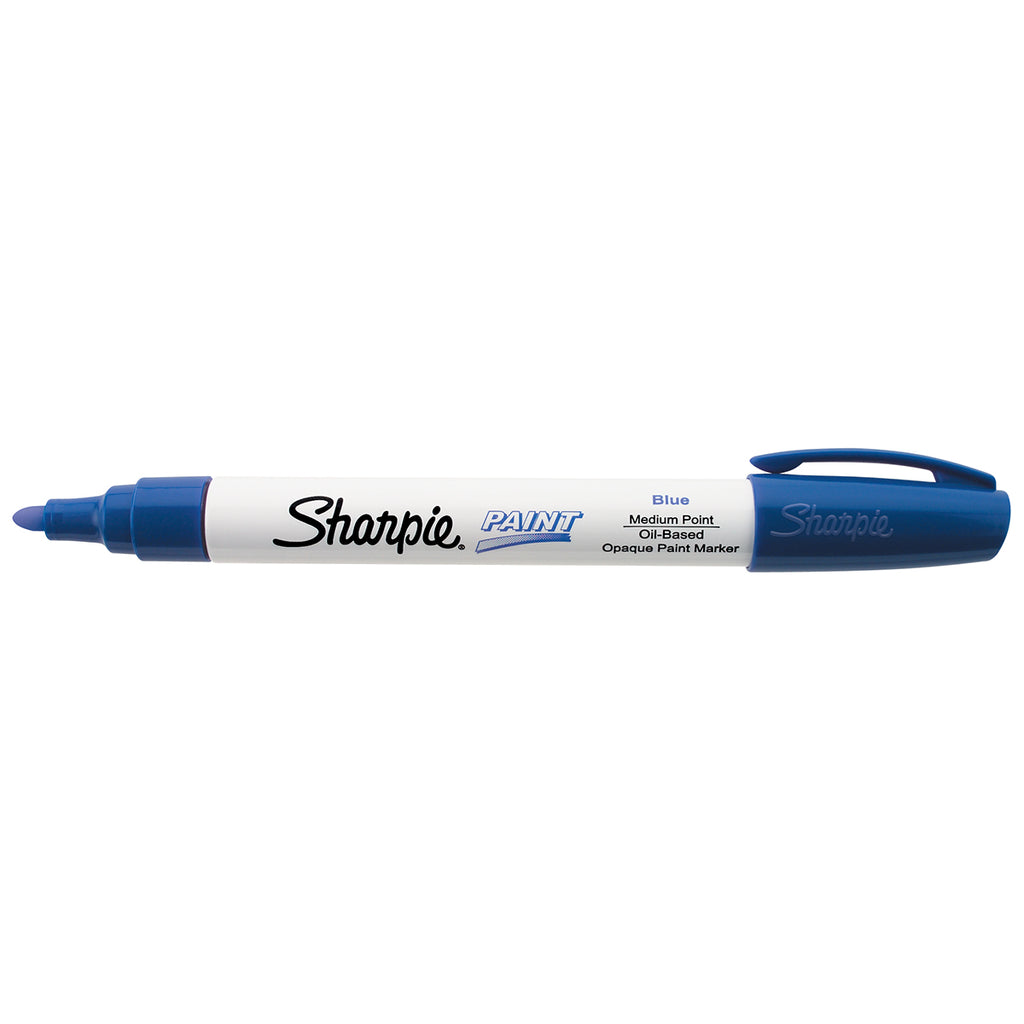 Sharpie Blue Paint Marker Medium Point Oil Based  Sharpie Markers