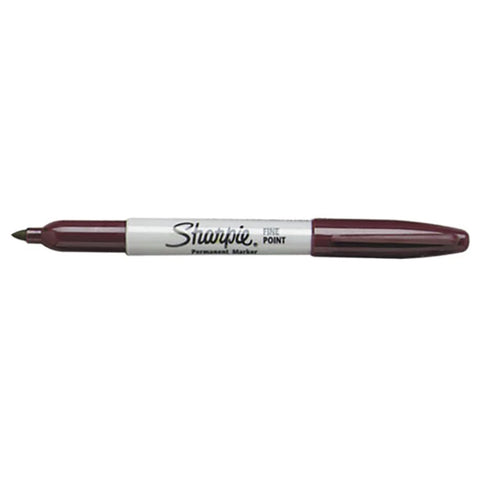 Sharpie Fine Point Burgundy Permanent Marker, Sold Individually