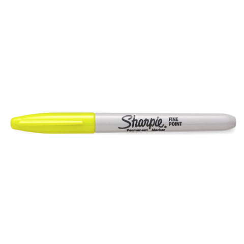Sharpie Supersonic Yellow Limited Edition Color Burst Fine Point Permanent Marker  Sharpie Markers