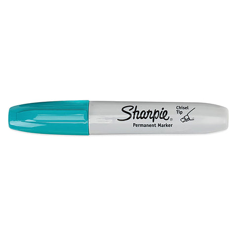 Sharpie Aqua Chisel Tip Permanent Marker Sold Individually  Sharpie Markers