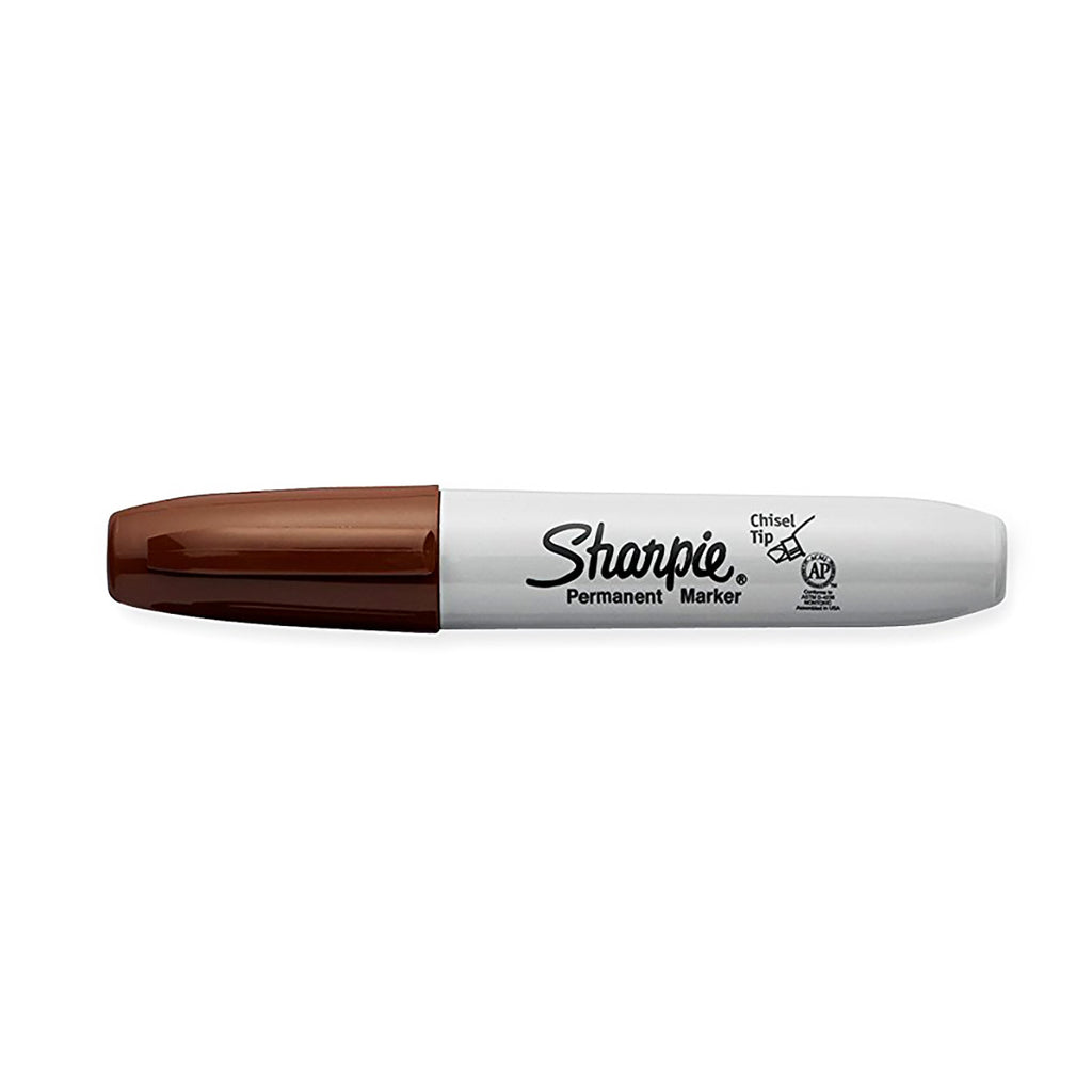Sharpie Chisel Point Brown Permanent Marker Dozen  Sharpie Markers