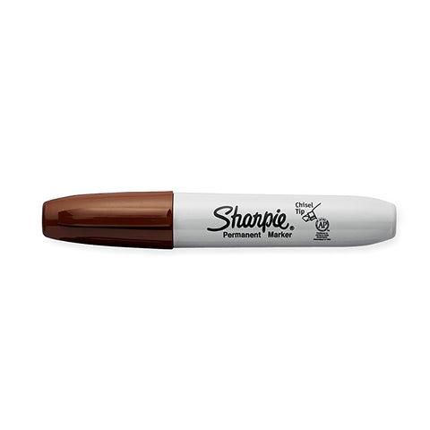 Sharpie Chisel Point Brown Permanent Marker Sold Individually  Sharpie Markers