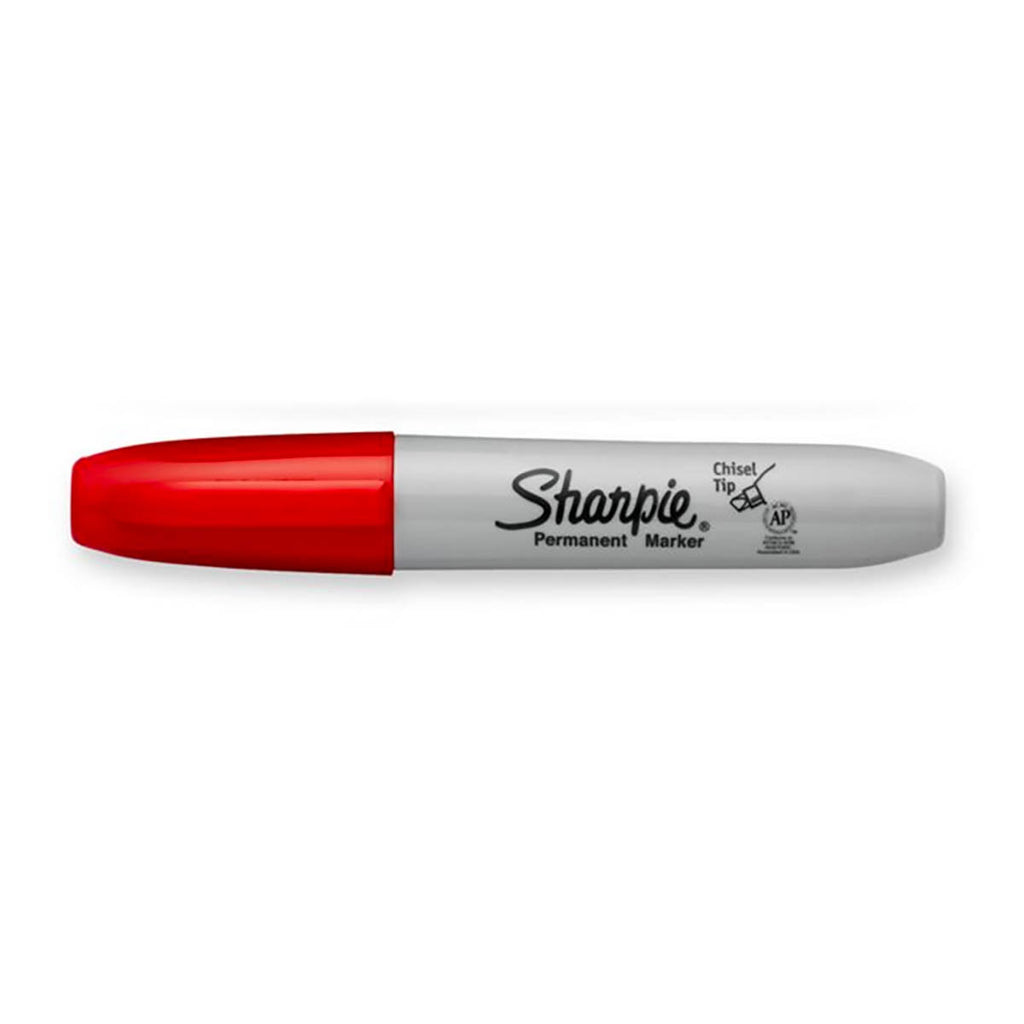 Sharpie Chisel Point Red Permanent Marker Sold Individually  Sharpie Markers