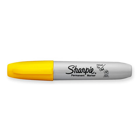 Sharpie Chisel Point Yellow Permanent Marker Dozen  Sharpie Markers