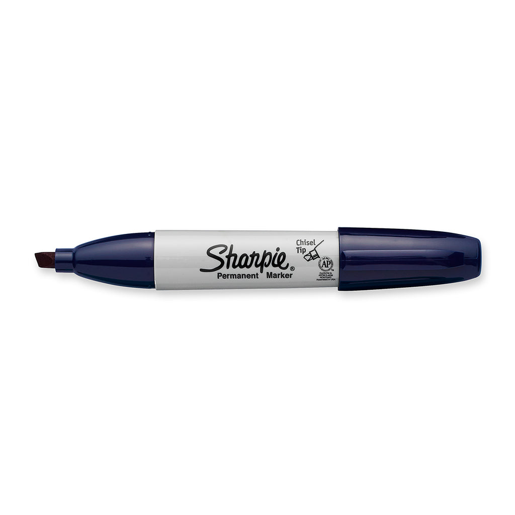 Sharpie Navy Chisel Tip Permanent Marker Sold Individually  Sharpie Markers
