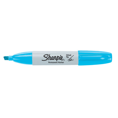 Sharpie Chisel Tip Turquoise Permanent Marker