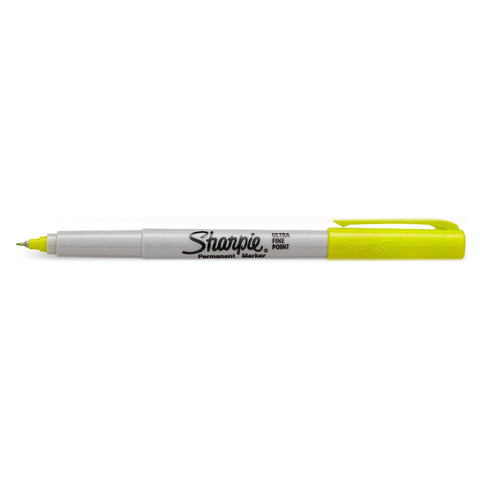 sharpie ultra fine yellow super sonic marker