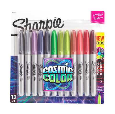 Sharpie Cosmic Colors Fine Point Magic Markers Pack of 12, Limited Edition  Sharpie Markers