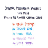 Sharpie Techno Blue Fine Point Limited Edition Electro Pop Permanent Marker Sold Individually  Sharpie Markers