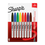 Sharpie Markers Pack of 8 Assorted, Fine Tip