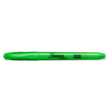 Sharpie Highlighter Pocket Style Green Narrow Chisel Tip Smear Guard Sold Individually  Sharpie Highlighter