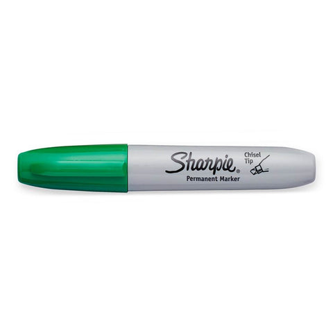 sharpie chisel green permanent marker for art or marking boxes