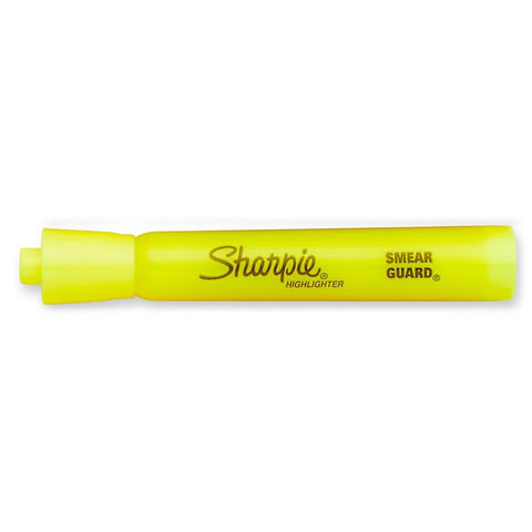 Sharpie Yellow Highlighter Chisel Tip Smear Guard Sold Individually