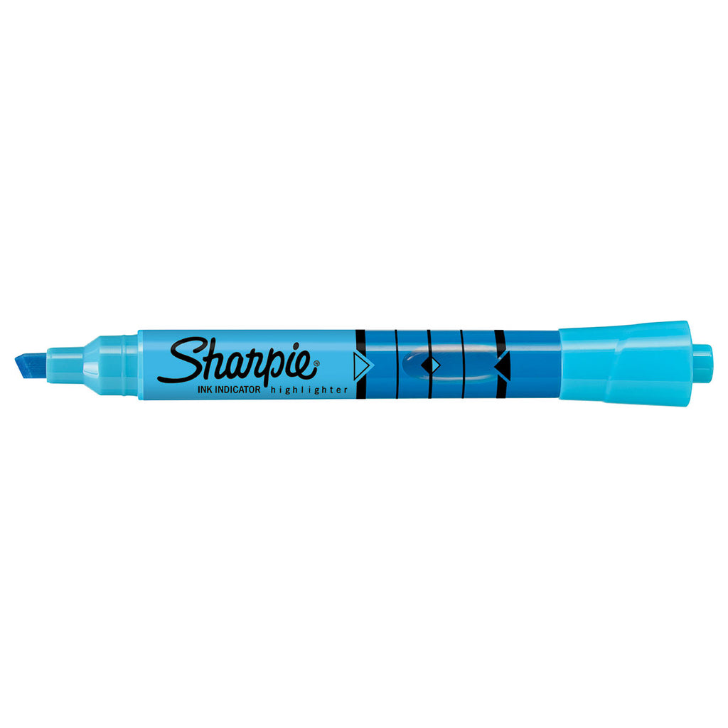 Sharpie Blue Highlighter Chisel Tip with Ink Indicator Tank