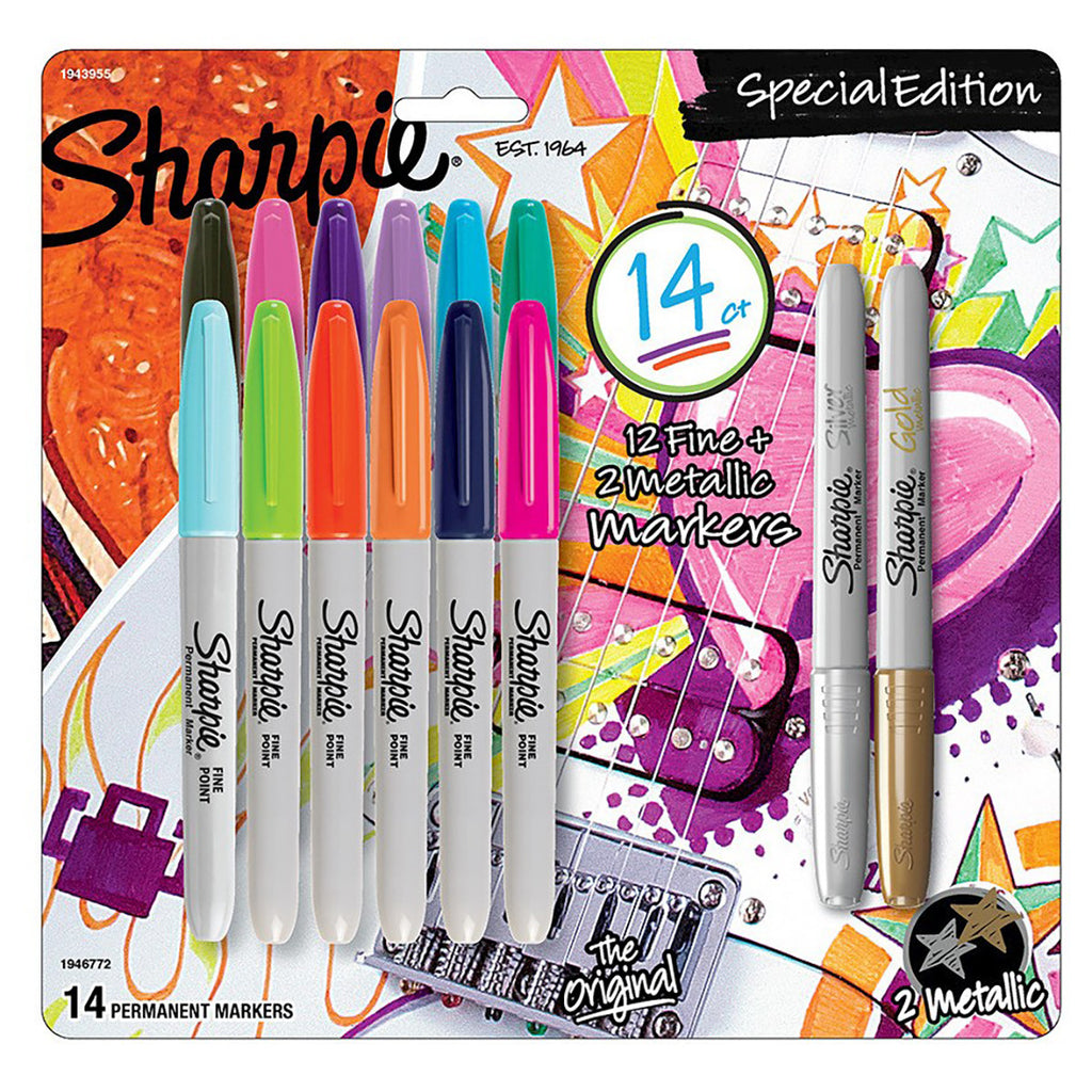 Sharpie Special Edition Fine Point Markers, Set of 14  Sharpie Markers