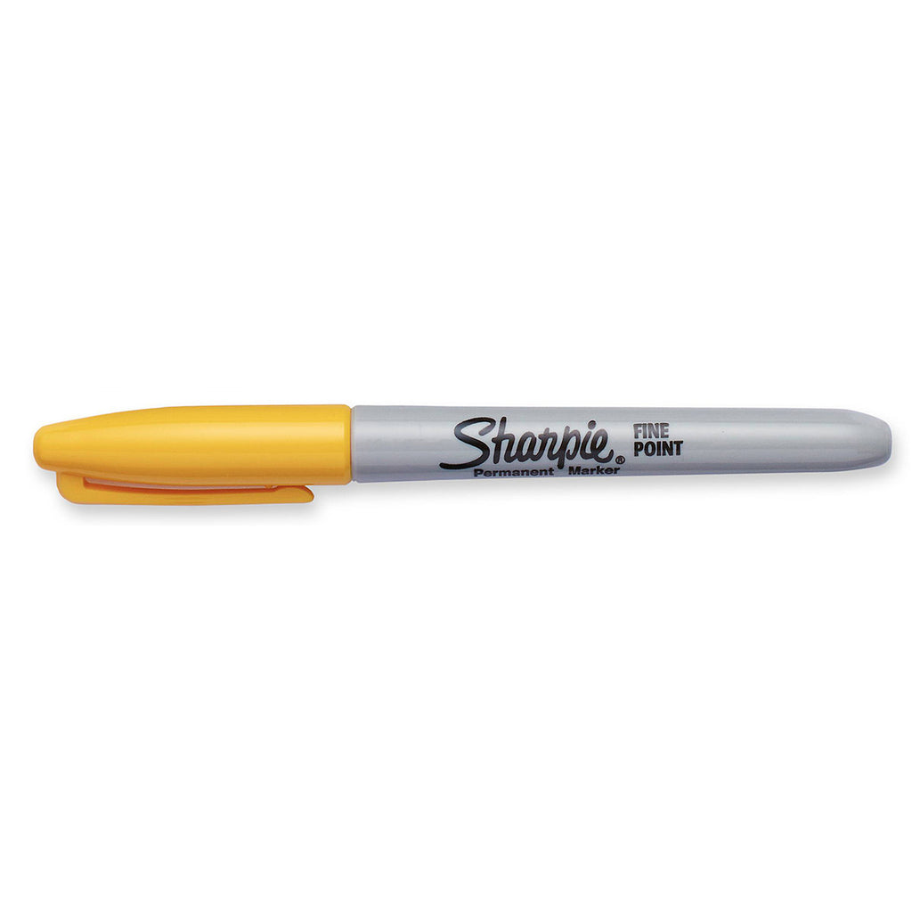 Sharpie Limited Edition 80's Glam Banana Clip Yellow Fine Point Permanent Marker  Sharpie Markers