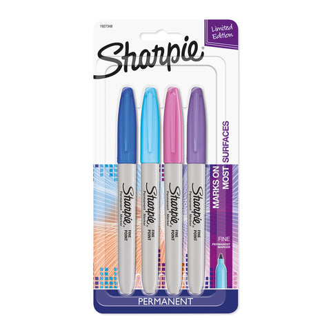 Sharpie Limited Edition Electro Pop 4 Permanent Markers  Sharpie Markers