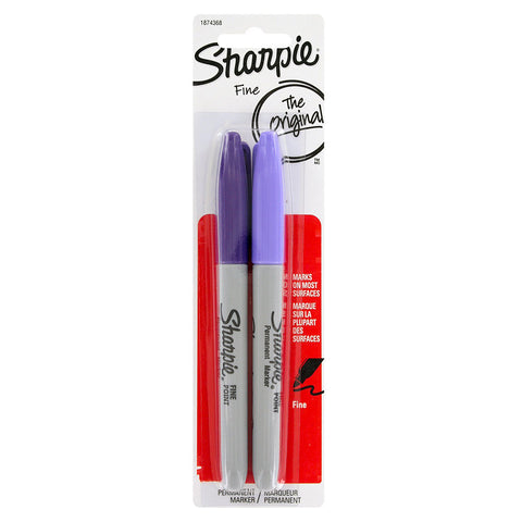 Sharpie Valley Girl and Lilac Permanent Markers Fine Point  Sharpie Markers