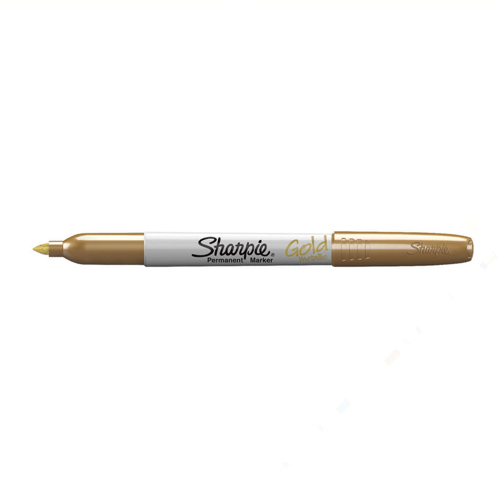 Sharpie Metallic Gold Permanent Marker Sold Individually  Sharpie Markers