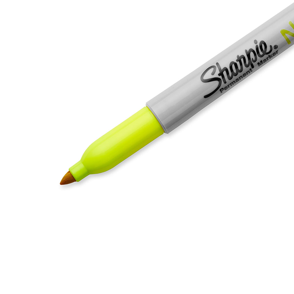 Sharpie Neon Yellow Fine Point Permanent Markers Pack of 6