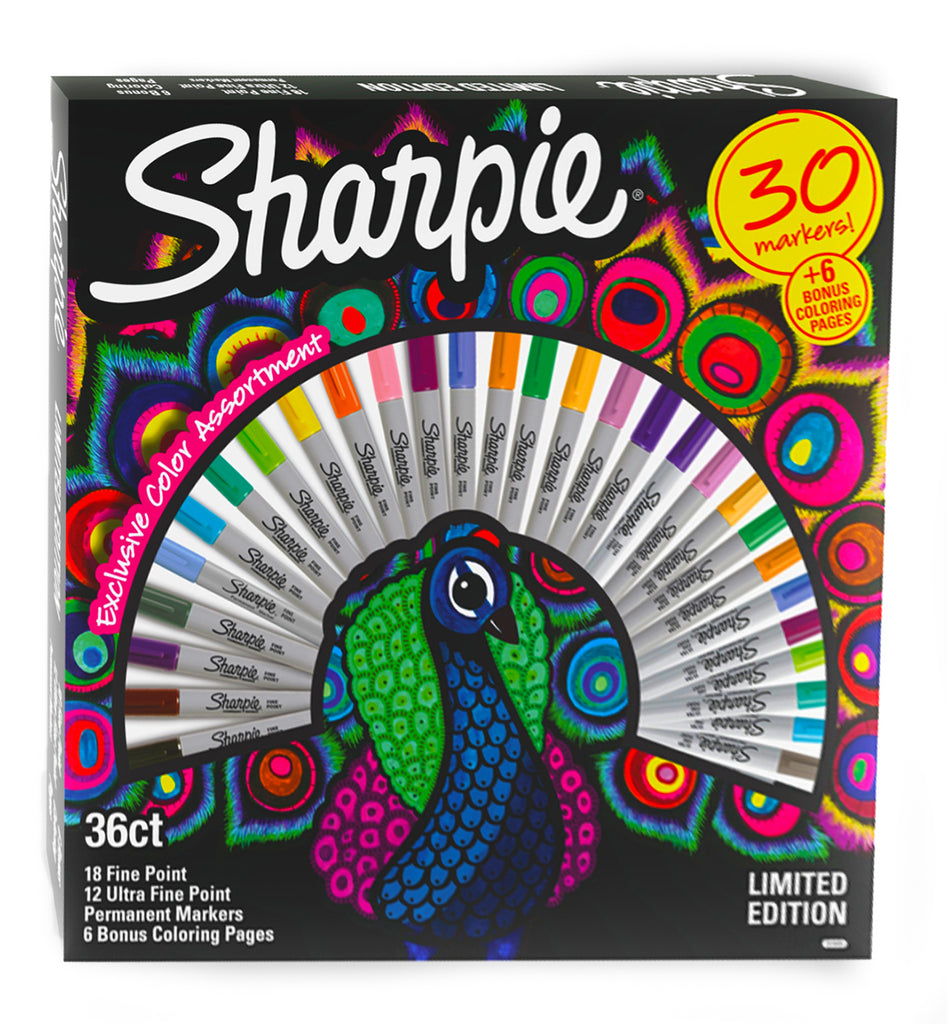 sharpie peacock set of 30 markers