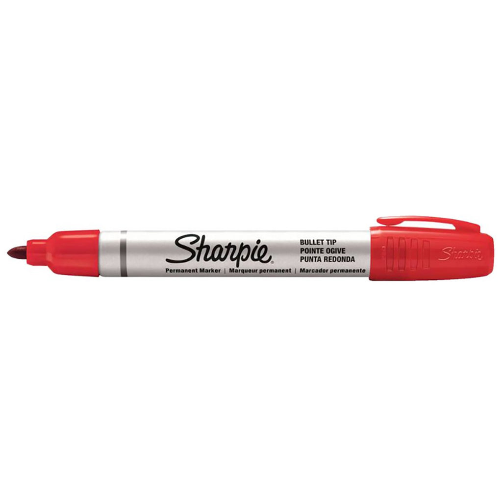 Sharpie Pro Bullet Red Permanent Marker Sold Individually  Sharpie Markers