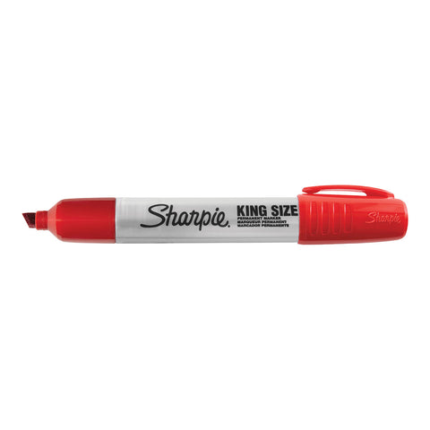 Sharpie Pro King Size Red Chisel Tip Marker  Sharpie Markers