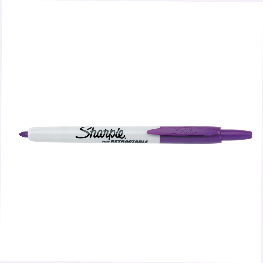 Sharpie Retractable Purple Fine Point Permanent Marker  Sharpie Markers
