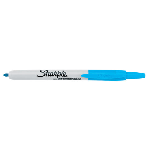 Sharpie Retractable Turquoise Fine Point Permanent Marker