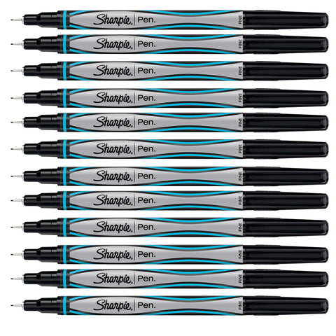 Sharpie Turquoise Pens Fine Point, Dozen  Sharpie Felt Tip Pen