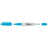 Sharpie Twin Tip Turquoise Ultra Fine and Fine Point  Sharpie Markers