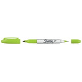 Sharpie Lime Twin Tip Double Sided Ultra Fine and Fine Point Lime Green Permanent Marker Sold Individually  Sharpie Markers