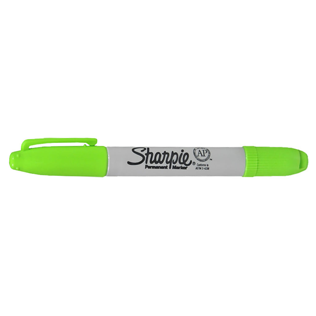 Sharpie Twin Tip Ultra Fine and Fine Point Lime Green Permanent Markers Dozen  Sharpie Markers