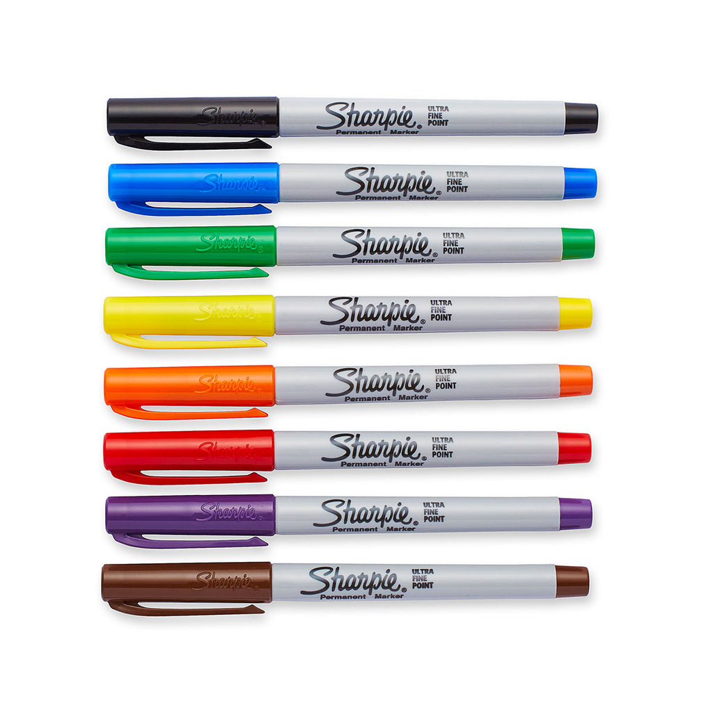 Sharpie Ultra Fine Markers Pack of 8 Assorted Colors  Sharpie Markers