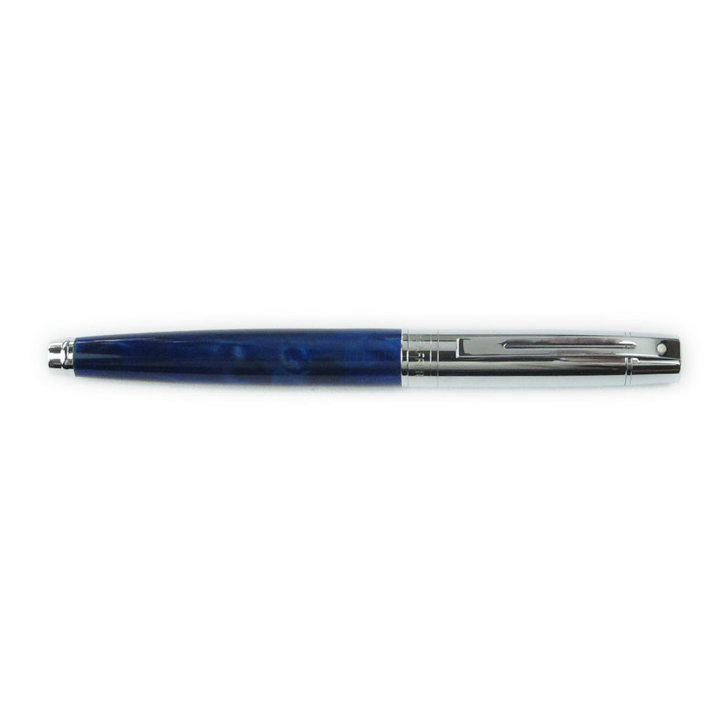 Sheaffer 300 Fountain Pen Marble Blue and Chrome Fine  Sheaffer Fountain Pens
