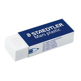 Staedtler Mars Plastic Erasers Pack of 9 + 2 Free Sharpeners Blue and Teal