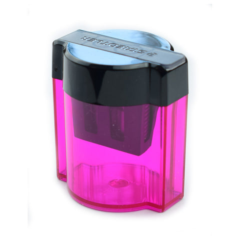 Staedtler Pink Magenta 2 Hole Pencil Sharpener With Receptacle