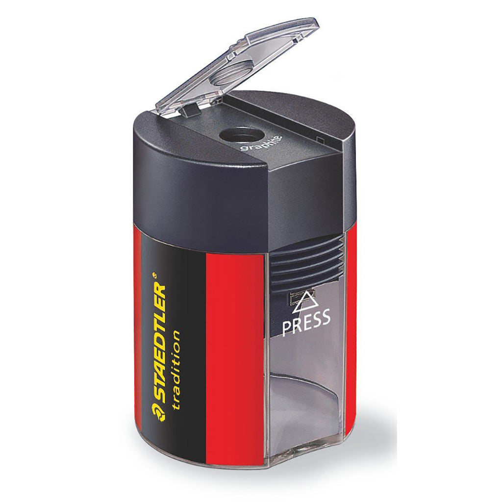 Staedtler Manual Pencil Sharpener With Receptacle