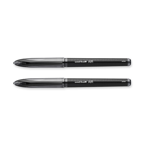 Uni Ball Air Black Medium 0.7mm Pack Of 2  Uni-Ball Rollerball Pens
