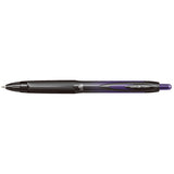 Uni Ball Signo 207 RT BLX Purple/Black Medium 0.7mm Retractable Gel Ink Pen, Pack of 6