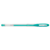 Uni-Ball Signo Metallic Pastel Green Gel Pen 0.8mm Medium  Uni-Ball Gel Ink Pens