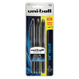 Uni Ball Air Micro Black Rollerball Pen 0.5MM Pack of 3  Uni-Ball Rollerball Pens