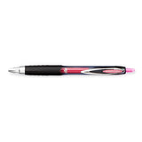 Uni Ball Signo 207 RT Pink Medium 0.7mm Retractable Gel Ink Pen  Uni-Ball Gel Ink Pens