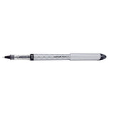 Uni Ball Vision Elite Designer Silver Body, Black Ink Rollerball Pen Bold 0.8mm