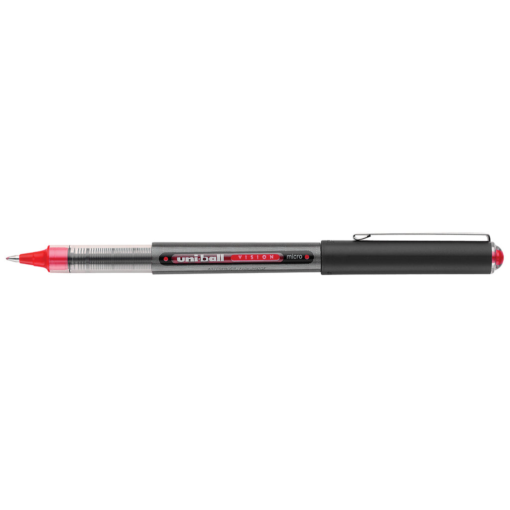 Uni Ball Vision Red Micro Rollerball Pen  Uni-Ball Rollerball Pens