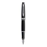 Waterman Expert Black Chrome Trim Fountain Pen and Ballpoint Set  Waterman Ballpoint Pen