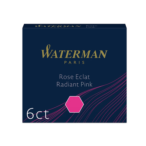 Waterman Pink Fountain Pen Mini Cartridges Pack of 6 International Size