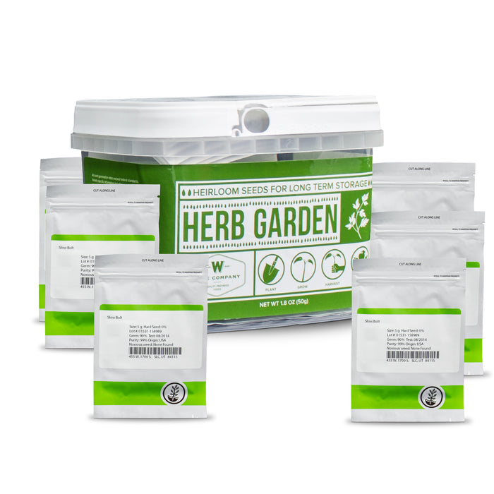 Herb Heirloom Seed Bucket