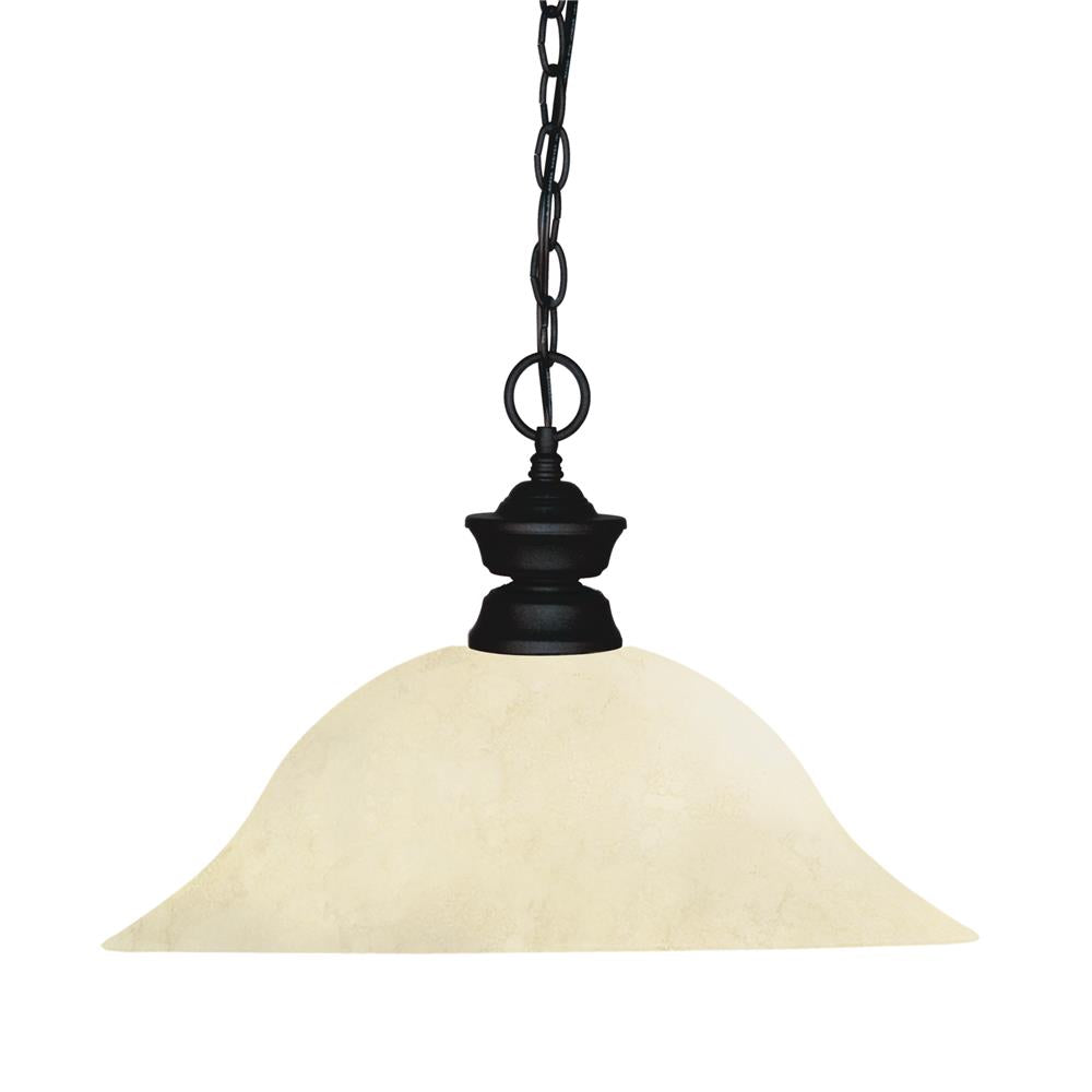 Z-Lite 100701MB-GM16 Shark 1 Light Pendant in Matte Black