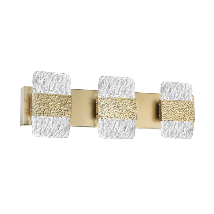 CWI Lighting 1090W21-3-620 Carolina LED Wall Sconce with Gold Leaf Finish